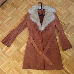 Arden B orange leather jacket